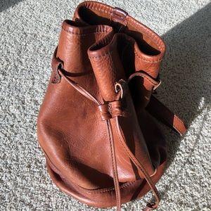 FRYE Leather Drawstring Bucket Bag